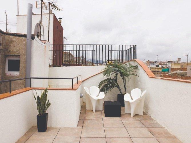 Terraza Apartaments Ciutat Vella Barcelona